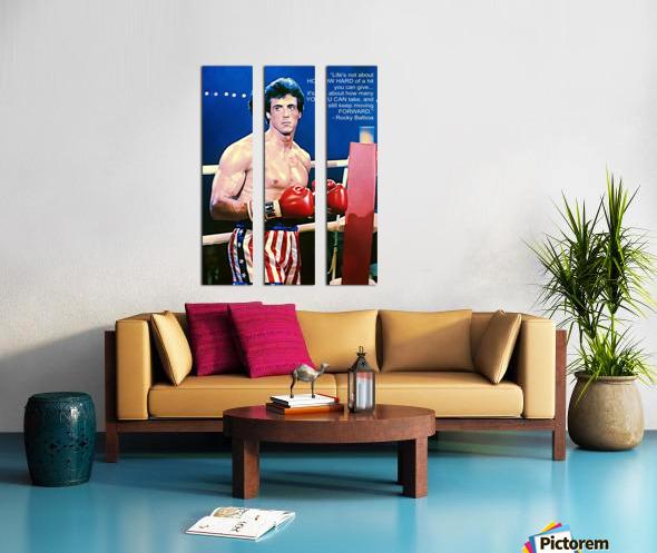 Rocky Sylvester Stallone Split Canvas print