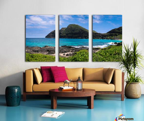Hawaii Mountain Cliff on Coast Split Canvas print