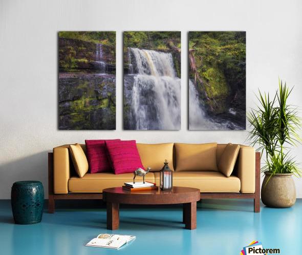 The waterfall Sgwd Clun Gwyn  Split Canvas print