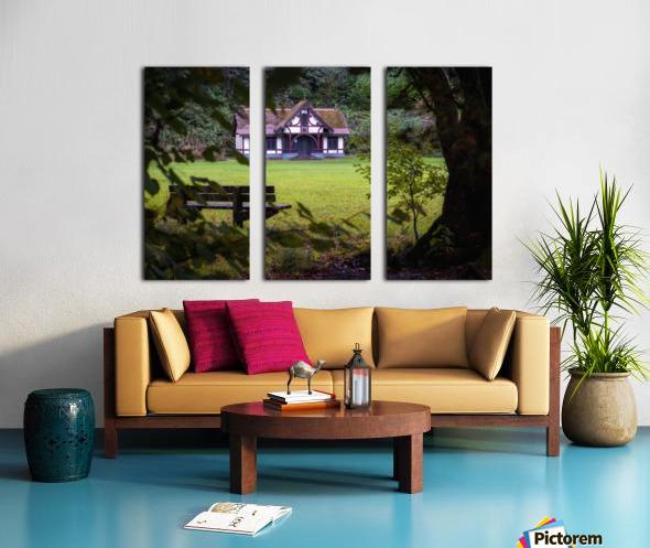 Craig-y-Nos Country park pavilion Split Canvas print