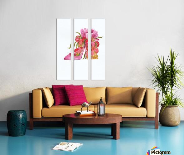 Flower heel Split Canvas print