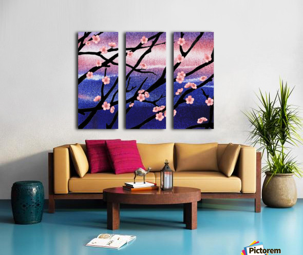 Cherry Blossoms Split Canvas print