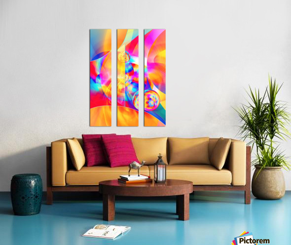 4th Dimension -Abstract Art XVII Split Canvas print