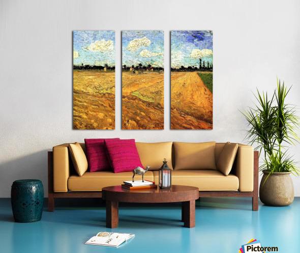Ploughed Field by Van Gogh Split Canvas print