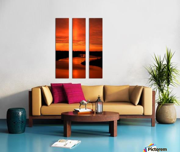 Big Ditch Sunset Split Canvas print