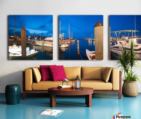 Key West Marina at Dusk Split Canvas print