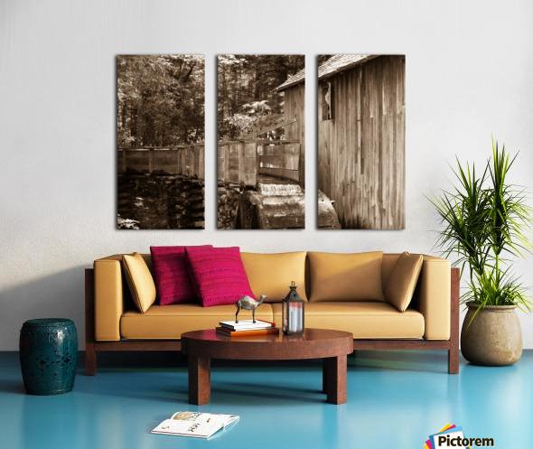 The John Cable Grist Mill Split Canvas print