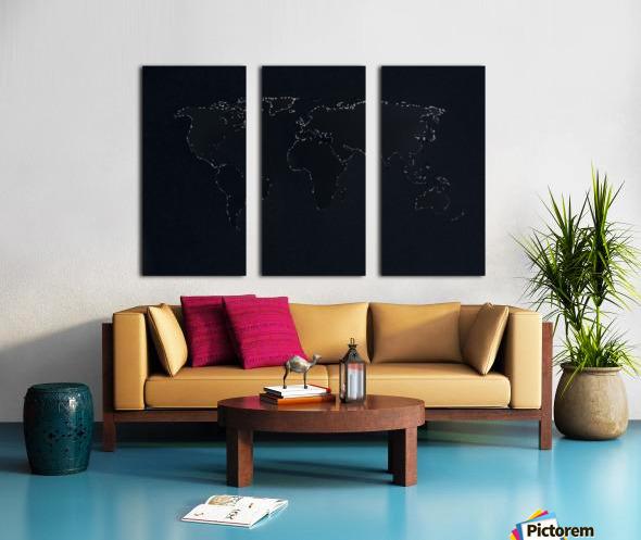 Dark Continent Lallia Split Canvas print