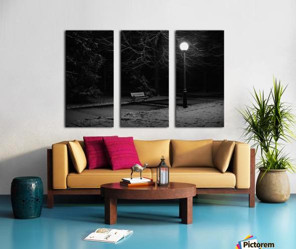 Winter night Split Canvas print