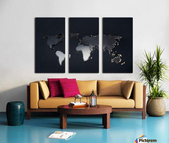 Dark Continent Jardia Split Canvas print