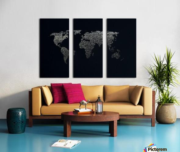 Dark Continent Ifren Split Canvas print