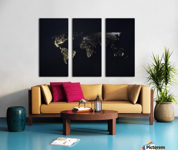 Dark Continent Heron Split Canvas print