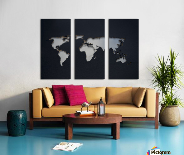 Dark Continent GoGo Split Canvas print