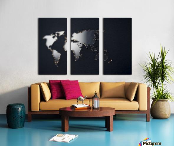 Dark Continent Fadana Split Canvas print