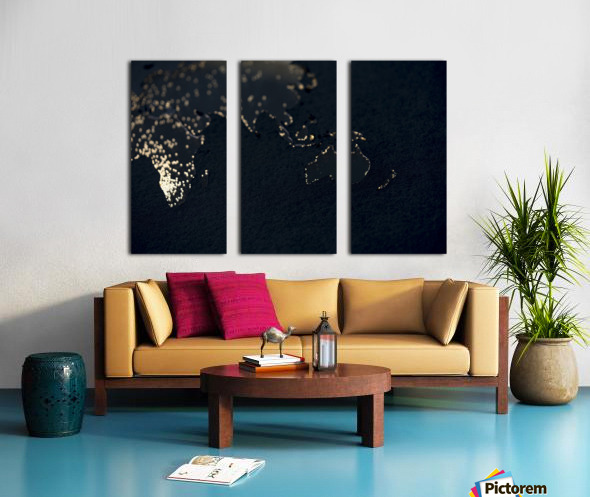 Dark Continent Erkon Split Canvas print