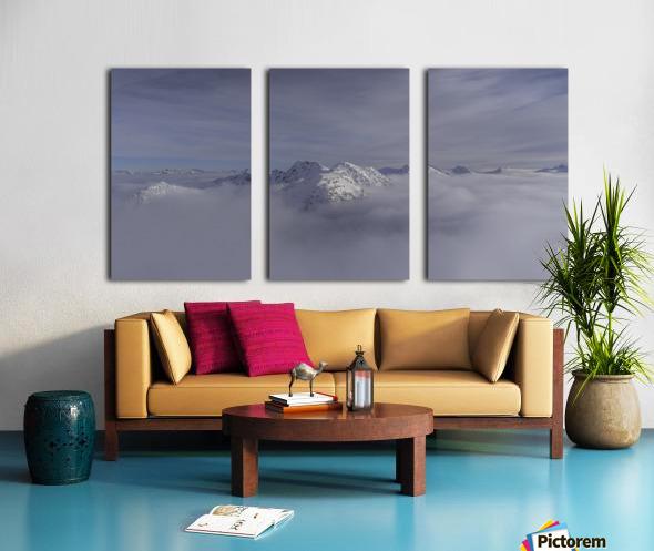 heli ski in the kootenays Split Canvas print