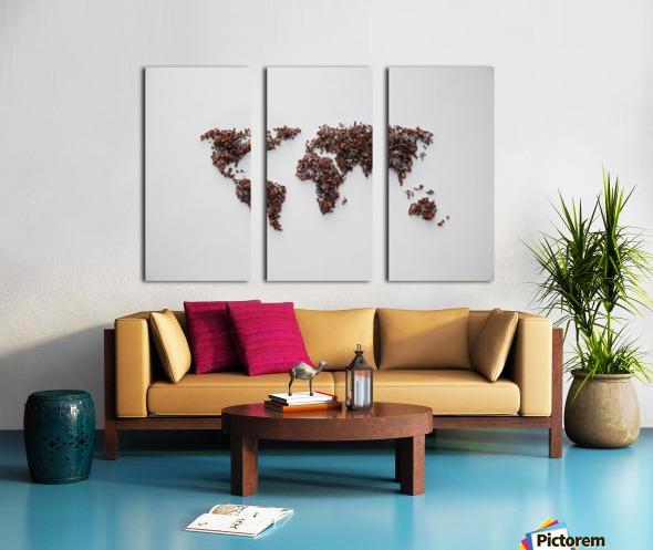 Light Continent Desertia Split Canvas print