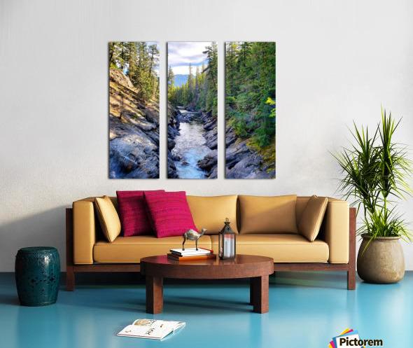 Icicle Gorge Trail Split Canvas print