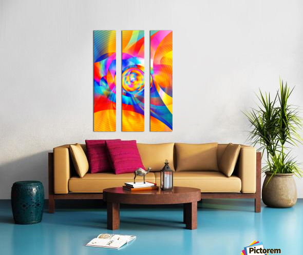 4th Dimension - Abstract Art XVI Split Canvas print