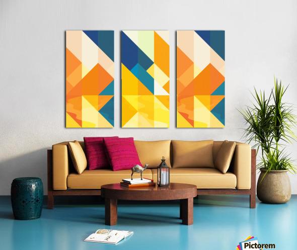 Geometric LI Split Canvas print