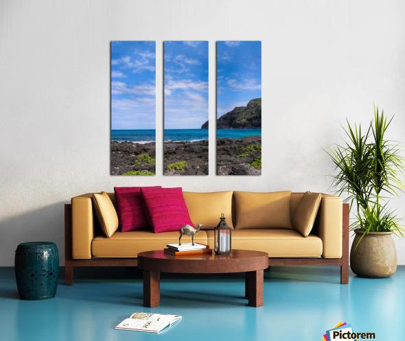 Hawaii Cliff and Coastline Square Panorama Split Canvas print