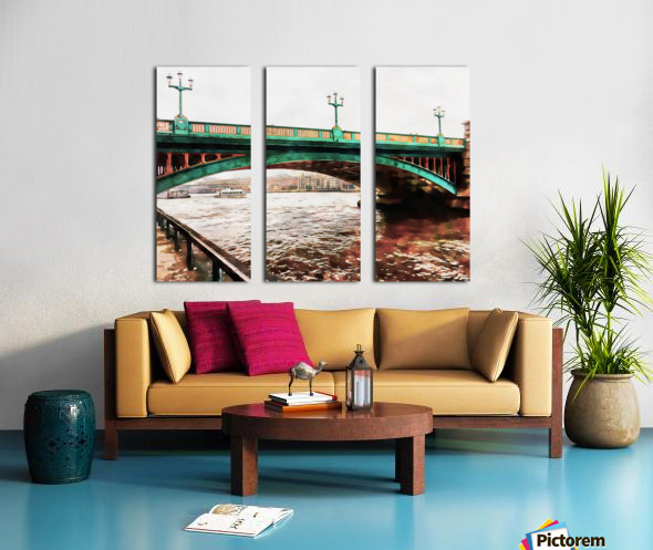 Impressions of Southwark Bridge Split Canvas print