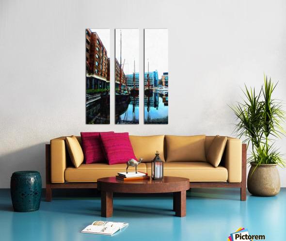 St Katharine Docks Boats 10 Split Canvas print
