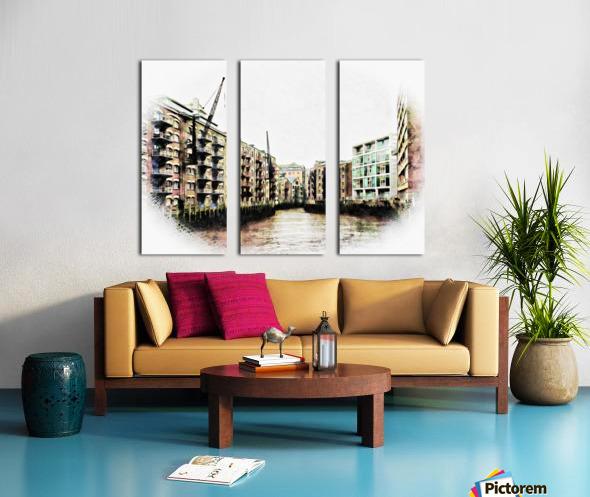 St Saviours Dock Bermondsey Split Canvas print