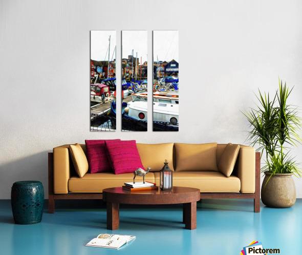 St Katharine Docks Boats 5 Split Canvas print