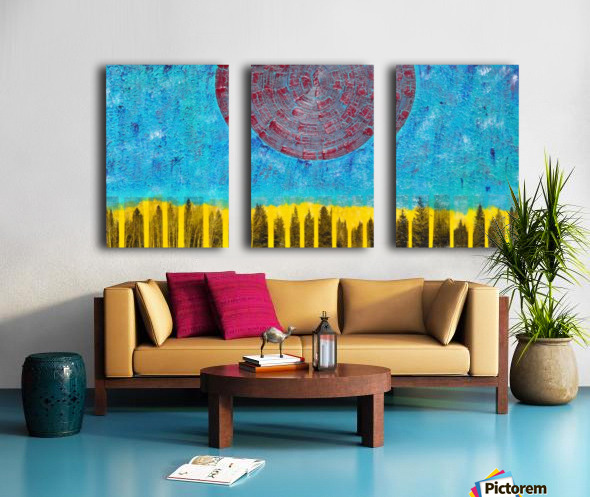 Bodies and Heart Split Canvas print