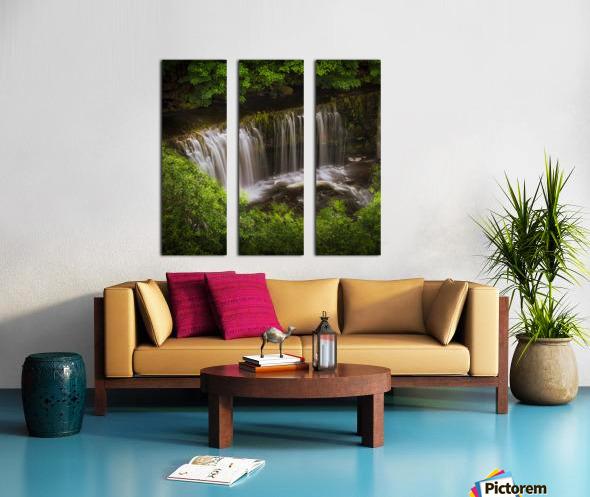 The Sgwd Isaf Clun-gwyn waterfall Split Canvas print
