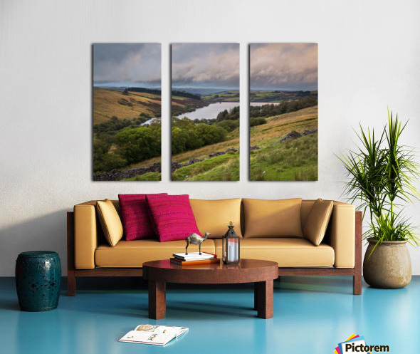 The Cray Reservoir in the Brecon Beacons National Park Split Canvas print