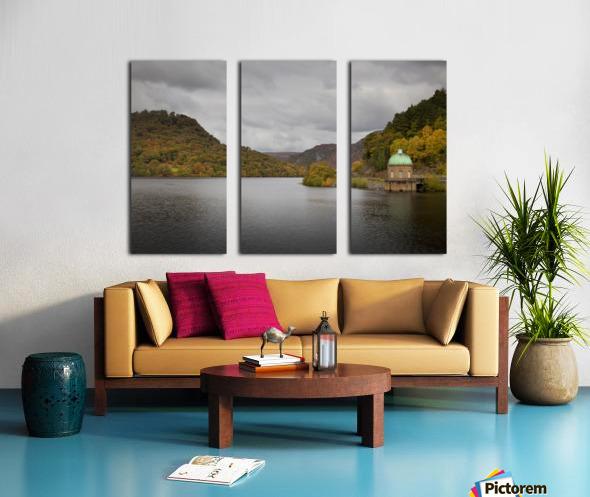 The Carreg Ddu reservoir Split Canvas print