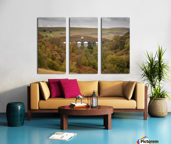 Elan Valley top dam Split Canvas print