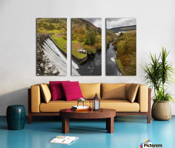Craig Goch dam Split Canvas print