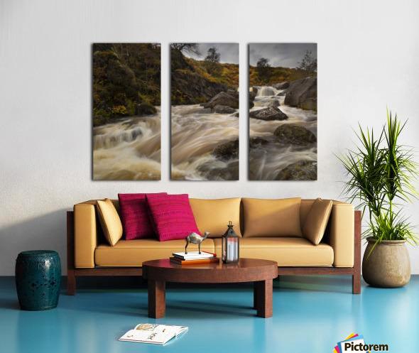 Elan valley watercourse Split Canvas print