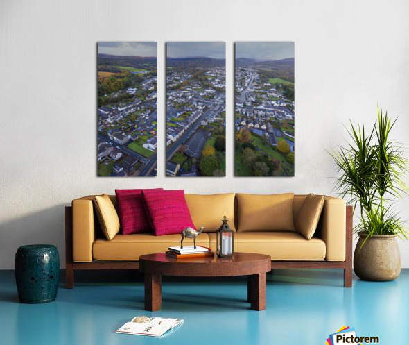 Rainclouds over Ystradgynlais Split Canvas print