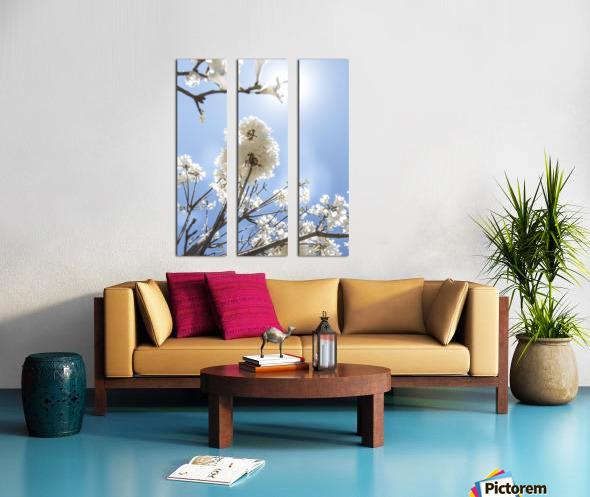 Bright white - glow Split Canvas print