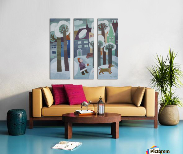 39 Split Canvas print