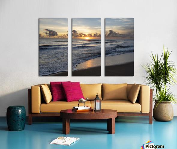 Sunrise Golden Split Canvas print