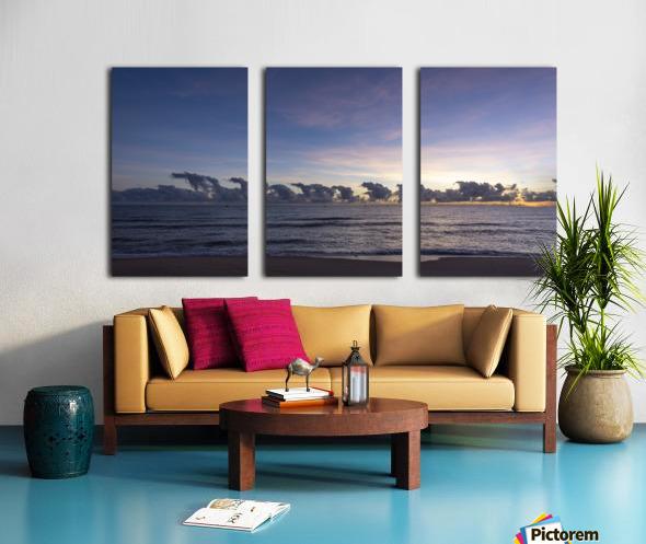 Sunrise Clouds Split Canvas print