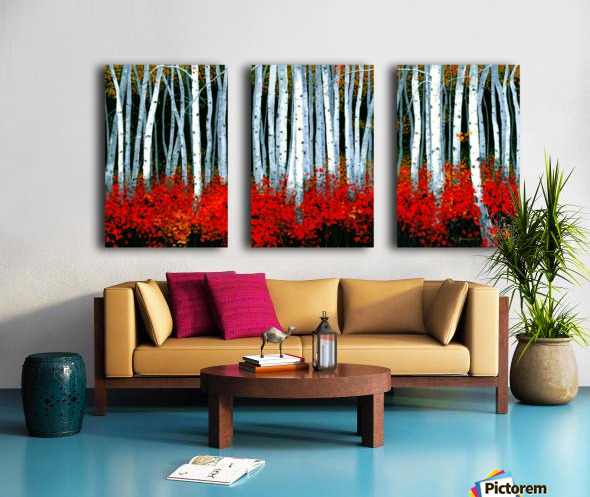 Autumn Aspens Split Canvas print