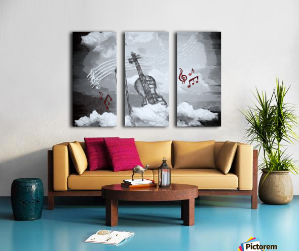 heavenly music Split Canvas print