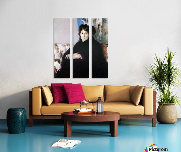 Portrait of Madame Pontillon Split Canvas print