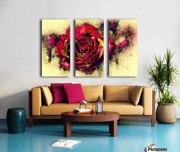 abstract rose Split Canvas print