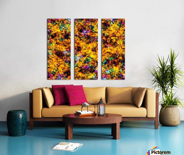 Hot yellow Split Canvas print