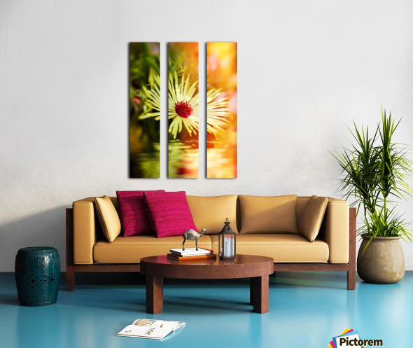 Sun worshippers yellow Split Canvas print