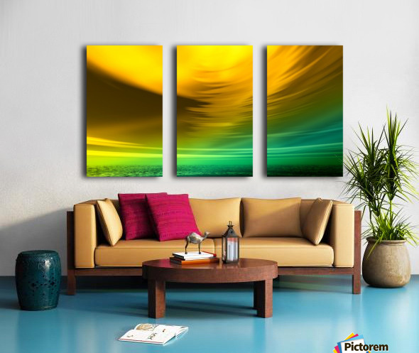 Storm Split Canvas print
