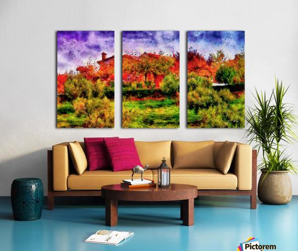 Sunset Autumn Color In Umbria Split Canvas print