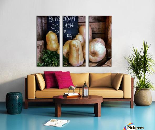 Butternut Squash Sale Display Split Canvas print